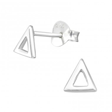 Triangle - 925 Sterling Silver Plain Ear Studs A4S29359