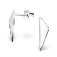 Triangle - 925 Sterling Silver Plain Ear Studs A4S29361