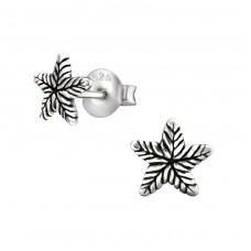 Starfish - 925 Sterling Silver Plain Ear Studs A4S29603