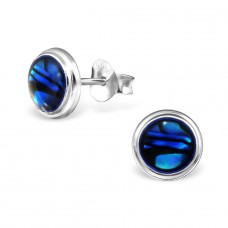 Round - 925 Sterling Silver Plain Ear Studs A4S30896
