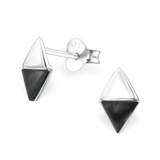 Triangle - 925 Sterling Silver Plain Ear Studs A4S31068