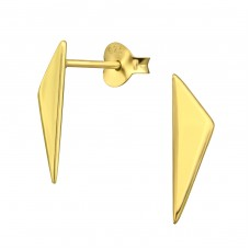 Triangle - 925 Sterling Silver Plain Ear Studs A4S33399