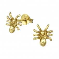 Spider - 925 Sterling Silver Plain Ear Studs A4S34628