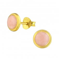 Round - 925 Sterling Silver Plain Ear Studs A4S36965