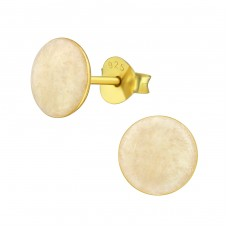 Round - 925 Sterling Silver Plain Ear Studs A4S36966