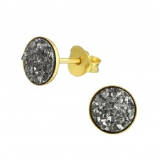 Round - 925 Sterling Silver Plain Ear Studs A4S37930