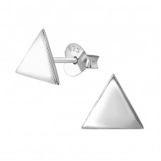 Triangle - 925 Sterling Silver Plain Ear Studs A4S38349