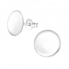 Round - 925 Sterling Silver Plain Ear Studs A4S38531