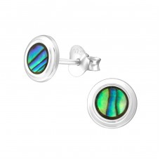 Round - 925 Sterling Silver Plain Ear Studs A4S38875