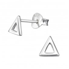 Triangle - 925 Sterling Silver Plain Ear Studs A4S38885