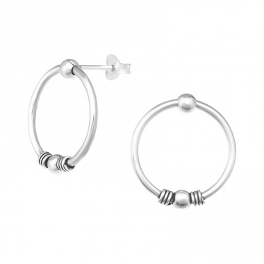Bali - 925 Sterling Silver Plain Ear Studs A4S39091
