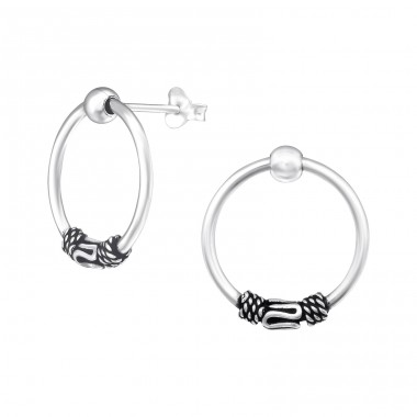 Bali - 925 Sterling Silver Plain Ear Studs A4S39092