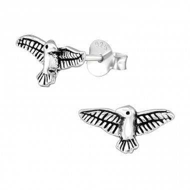 Eagle - 925 Sterling Silver Plain Ear Studs A4S39132