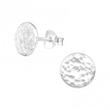 Round - 925 Sterling Silver Plain Ear Studs A4S39148