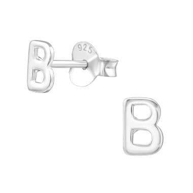 - 925 Sterling Silver Plain Ear Studs A4S39319