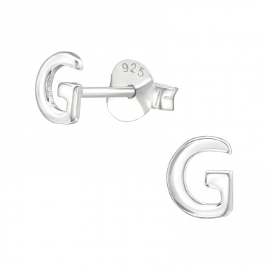 - 925 Sterling Silver Plain Ear Studs A4S39321
