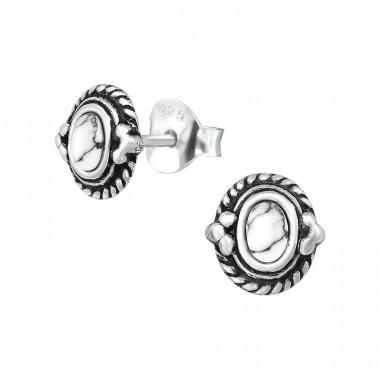 Bali - 925 Sterling Silver Plain Ear Studs A4S39339