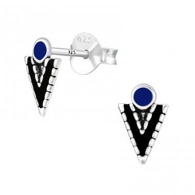 Arrow - 925 Sterling Silver Plain Ear Studs A4S39397