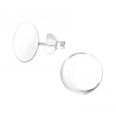 Round - 925 Sterling Silver Plain Ear Studs A4S39453
