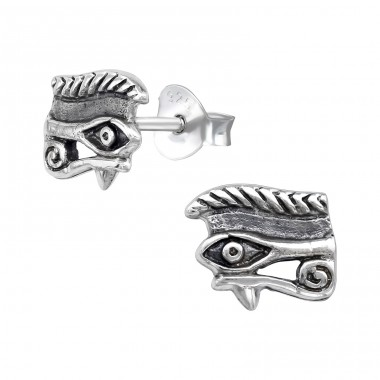 Eye Of Horus - 925 Sterling Silver Plain Ear Studs A4S39615
