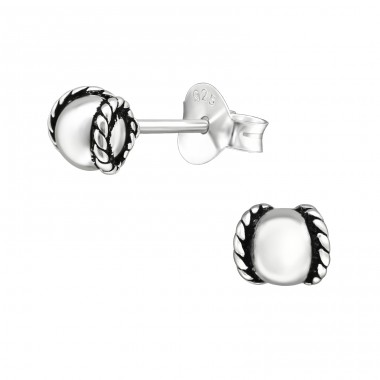 Bali - 925 Sterling Silver Plain Ear Studs A4S39642
