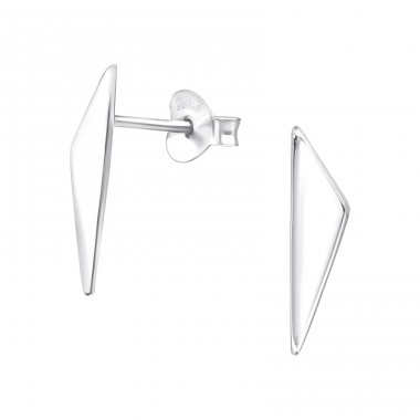 Triangle - 925 Sterling Silver Plain Ear Studs A4S39927