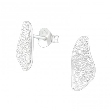 Pattern - 925 Sterling Silver Plain Ear Studs A4S39998