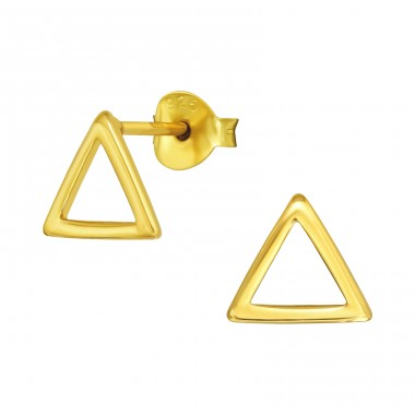 Golden Triangle - 925 Sterling Silver Plain Ear Studs A4S40967
