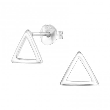 Triangle - 925 Sterling Silver Plain Ear Studs A4S40968