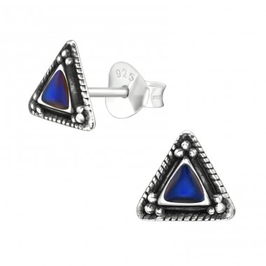 Triangle - 925 Sterling Silver Plain Ear Studs A4S40970