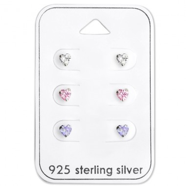 Heart - 925 Sterling Silver Jewellery Sets A4S28456