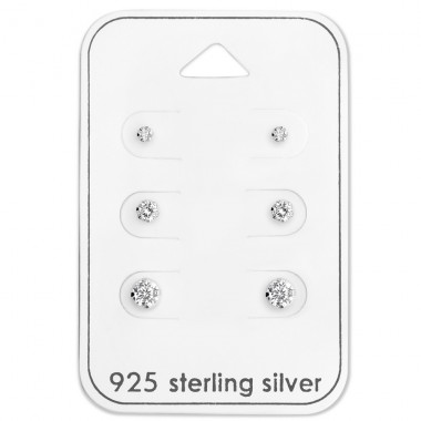 Round - 925 Sterling Silver Jewellery Sets A4S28459