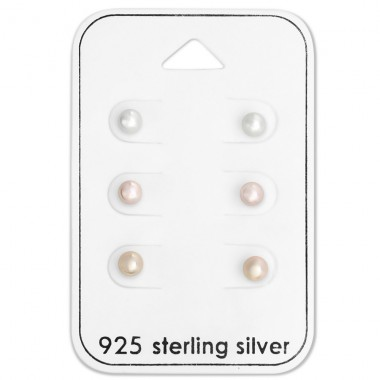 4mm - 925 Sterling Silver Jewellery Sets A4S28493