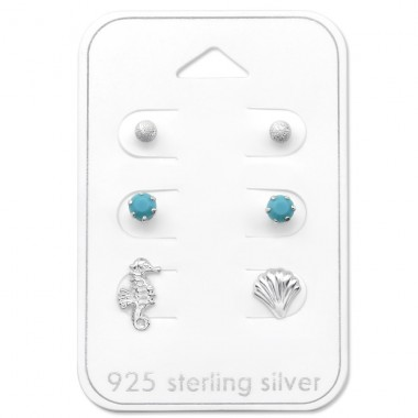Beach - 925 Sterling Silver Jewellery Sets A4S30776