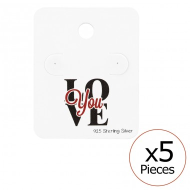 Love You Ear Stud Cards - Paper Jewellery Sets A4S34082
