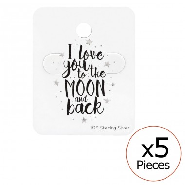 Love You To The Moon And Back Ear Stud Cards - Paper Jewellery Sets A4S34083