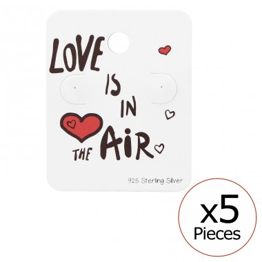 Love Is In The Air Ear Stud Cards - Paper Jewellery Sets A4S34087