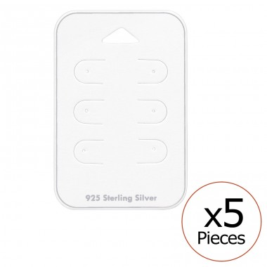 Card For 3 Pairs Of Ear Studs - Paper Jewellery Sets A4S34088
