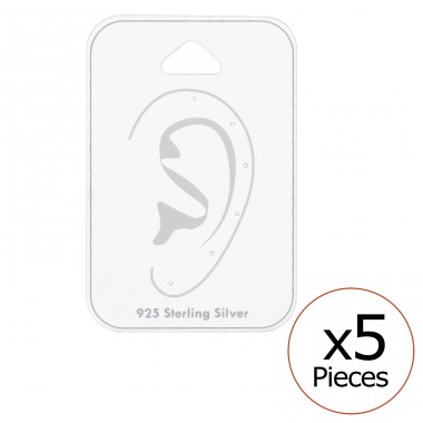 Card For 6 Pieces Ear Studs - Paper Jewellery Sets A4S34089