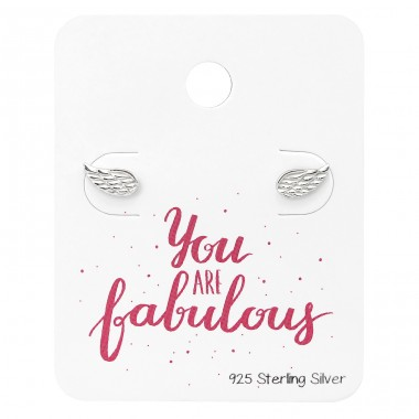 Angel Wings Ear Studs On You Are Fabulous - 925 Sterling Silver Jewellery Sets A4S34131