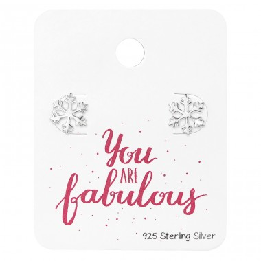Snowflake - 925 Sterling Silver Jewellery Sets A4S34217