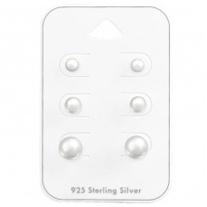 4Mm,6Mm,8Mm Round - 925 Sterling Silver Jewellery Sets A4S35237