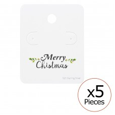 Merry Chismas Ear Studs Cards - Paper Jewellery Sets A4S35817