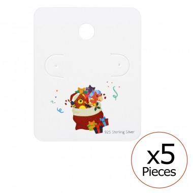 Christmas Stocking Ear Studs Cards - Paper Jewellery Sets A4S35818