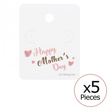 Happy Mother's Day Ear Studs Cards - Paper Jewellery Sets A4S35819