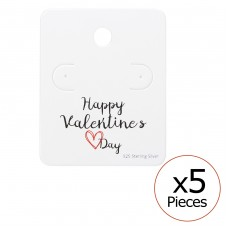 Happy Valentines Day Ear Studs Cards - Paper Jewellery Sets A4S35820