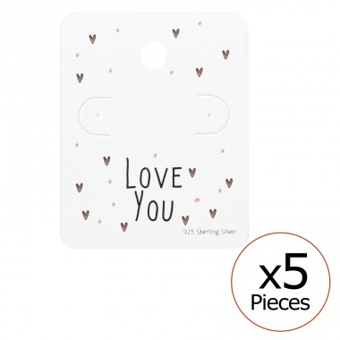 Love You Ear Studs Cards - Paper Jewellery Sets A4S35821