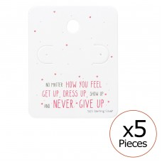 Motivational Quote Ear Stud Cards - Paper Jewellery Sets A4S35822