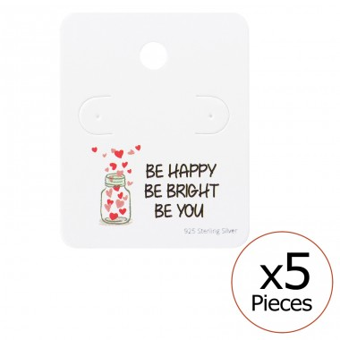 Motivational Quote Ear Stud Cards - Paper Jewellery Sets A4S35823