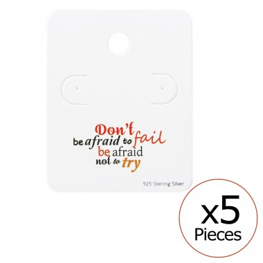 Motivational Quote Ear Stud Cards - Paper Jewellery Sets A4S35826